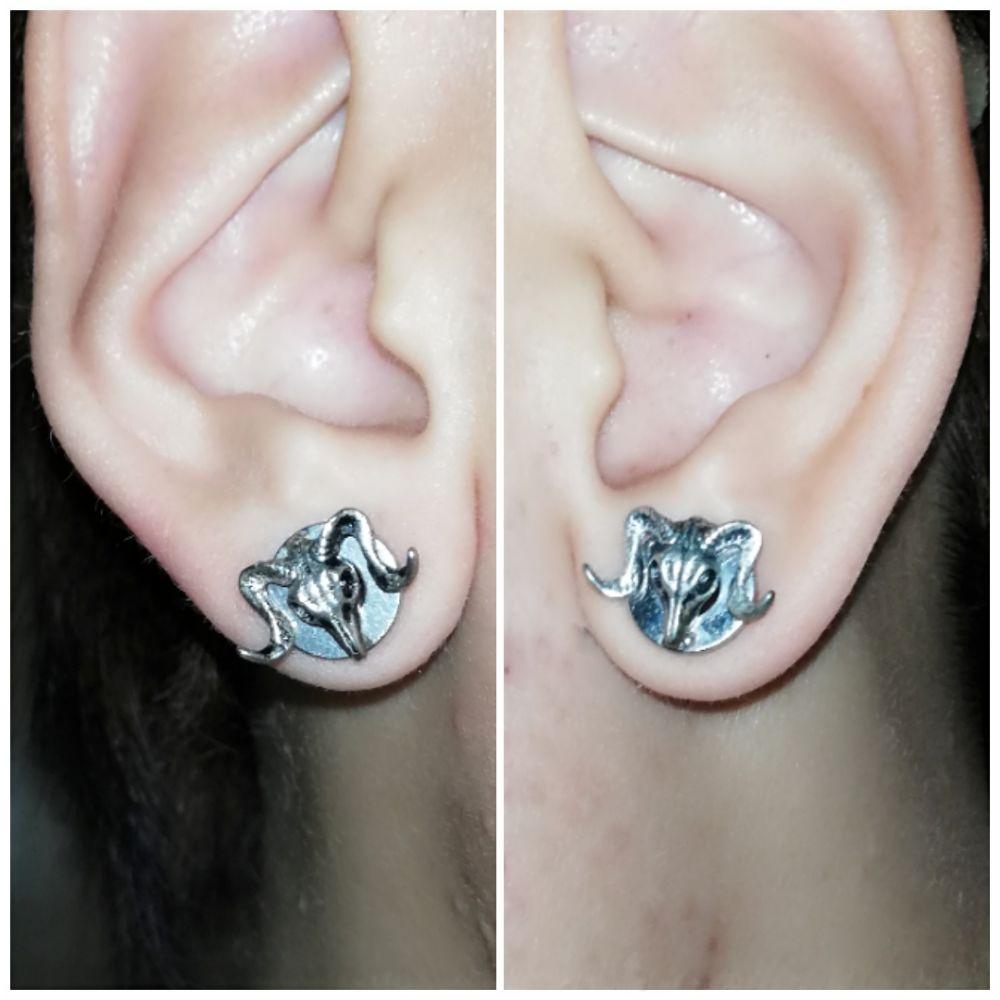 2g  (pair) Ram Skull Eyelets -- Photo # 85190