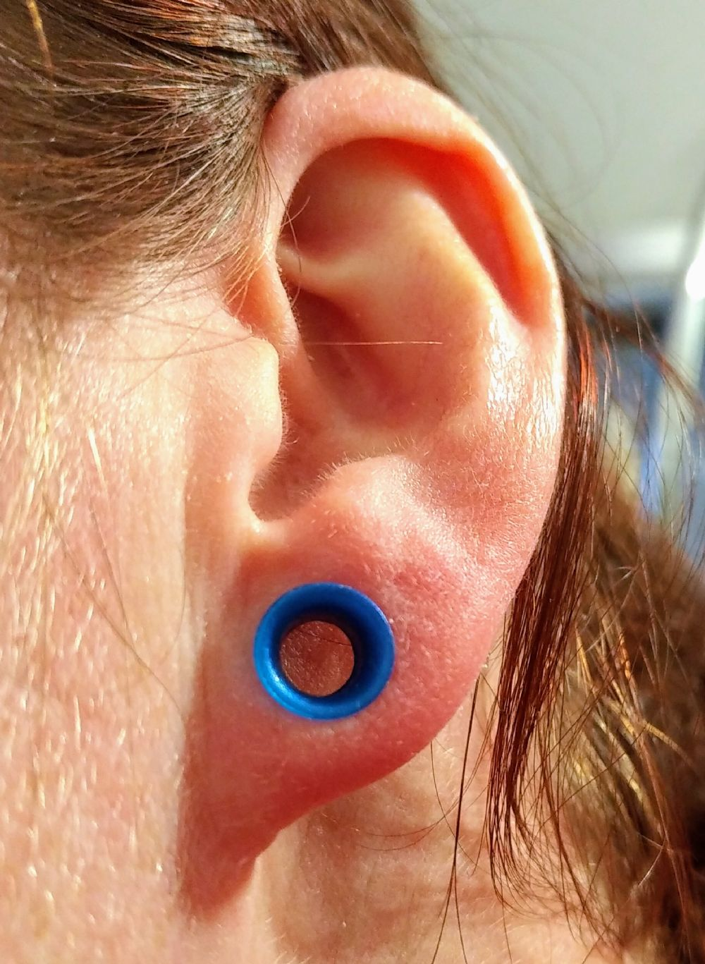 "2g  6.5mm Cobalt Pearl (5/16"" wearable) Silicone Earskin -- Photo # 82365"