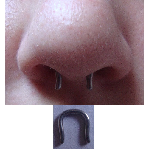 14g  Polish Titanium Septum Retainer -- Photo # 53218