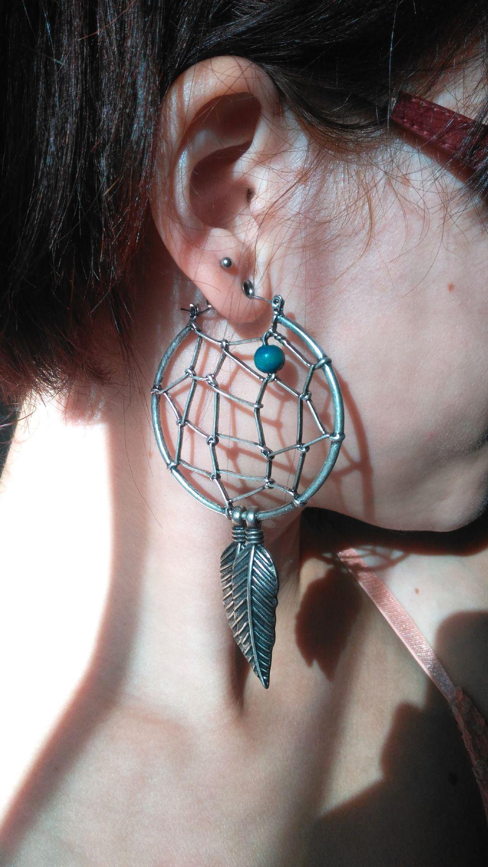 20g  (pair) Dream Catcher Hoop Earrings -- Photo # 80258
