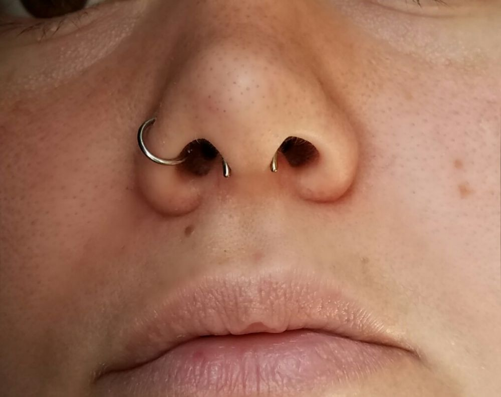 16g  Polish Titanium Septum Retainer -- Photo # 78435