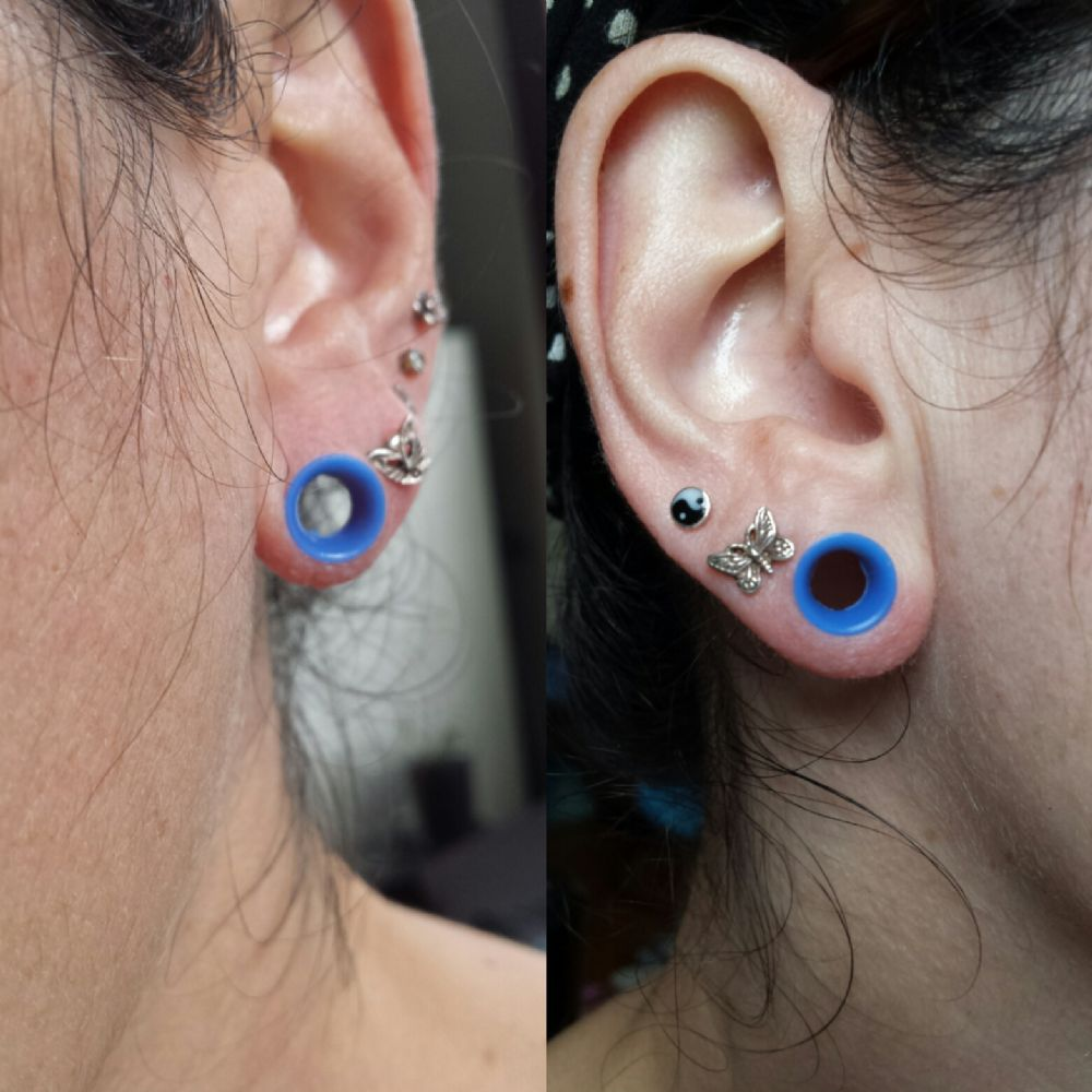 "2g  Blue (1/4"" wearable) Silicone Earskin (1/4 and 3/8 Wearables) -- Photo # 84889"