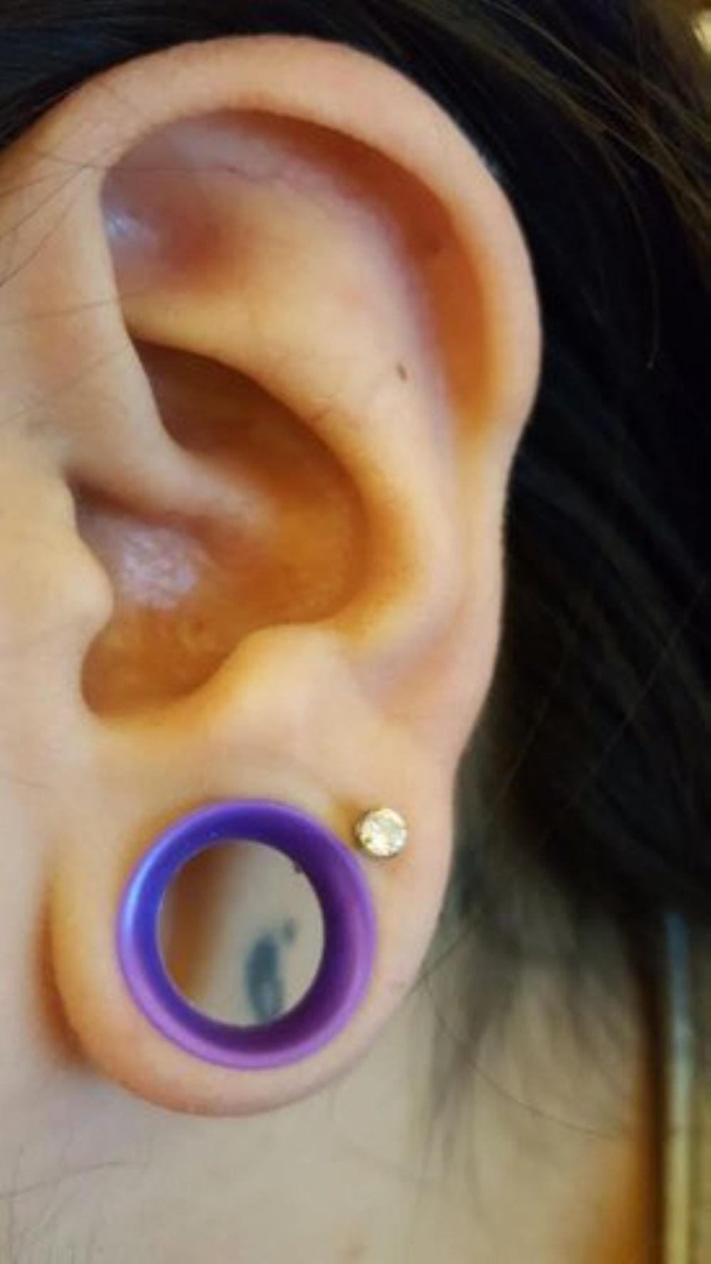 """1/2"""" 1/4"""" Royal Purple wearable Silicone earskin (1/4 and 3/8 wearables) -- Photo # 78343"""