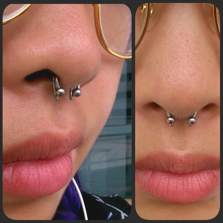 16g  Polish Titanium Septum Retainer -- Photo # 61815