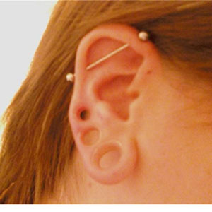 "Silicone earskin (Clear) 7/16""  (1/4"" wearable)"