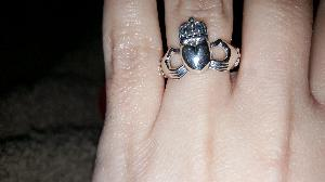 Size 7 Silver claddagh ring