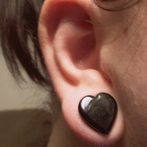 "1/2""  Black (pair) -- Photo # 25348"