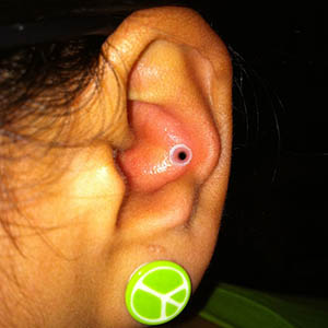 "Silicone earskin (Clear) 10g  (1/4"" wearable)"