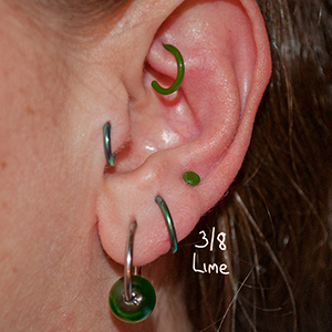 "14g 3/8"" Lime  -- Photo # 73613"