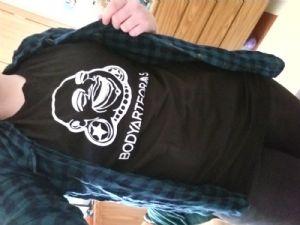 Large  New Design BAF Buddha Head T-Shirt (White On Black) -- Photo # 85363