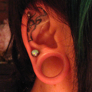 "Silicone earskin (Clear) 3/4""  (3/8"" wearable)"