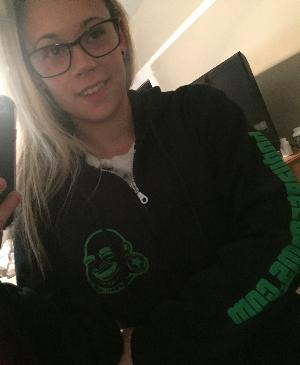 Zipper hoodie (Green BAF Buddha logo)