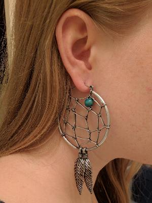 20g Dream catcher hoop earrings