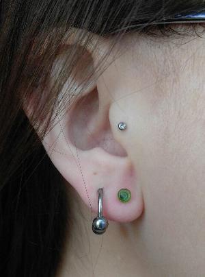 12g  Translucent green (pair) -- Photo # 76100