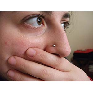 Micro nostril stud 18g  high polish
