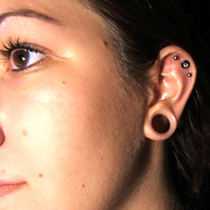 "Silicone earskin (Clear) 9/16""  (3/8"" wearable)"