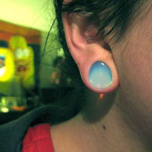 """Opalite teardrop plug 1/2""""   -- Photo # 15692"""