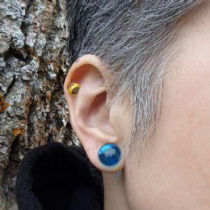 00g/10mm  Ocean Blue (pair) -- Photo # 80247
