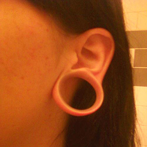 "Silicone earskin (Clear) 1-1/4""  (3/8 wearable)"