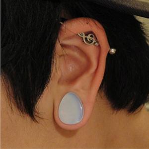 """Opalite teardrop plug 5/8""""   -- Photo # 35630"""