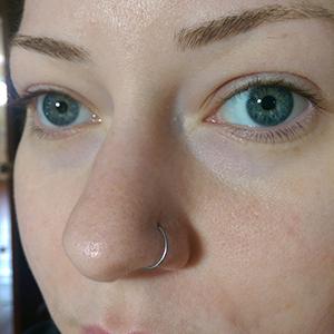 "Nose Hoop 20g 3/8""  -- Photo # 73337"
