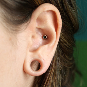 "Silicone earskin (Clear) 7/16""  (5/16"" wearable)"