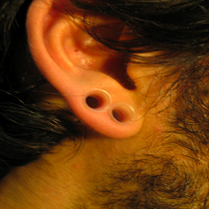 "Silicone earskin (Clear) 2g  (5/16"" wearable)"