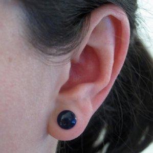2g  Cobalt Blue 6.5mm (pair) -- Photo # 75442