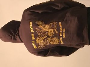 """Medium   Brown with """"Fighting the Good Fight"""" logo -- Photo # 79004"""