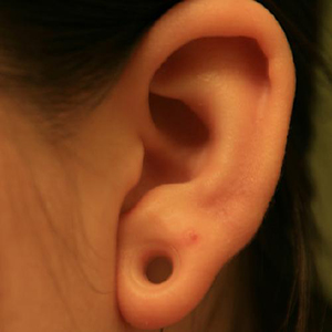 "Silicone earskin (Clear) 2g  (1/4"" wearable)"