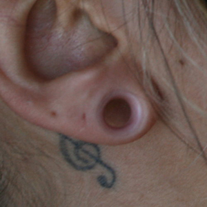 "Silicone earskin (Clear) 0g  (5/16"" wearable)"