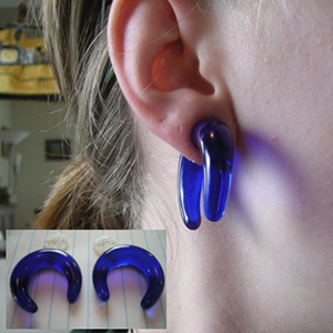 Acrylic pincher 00g/10mm  Blue
