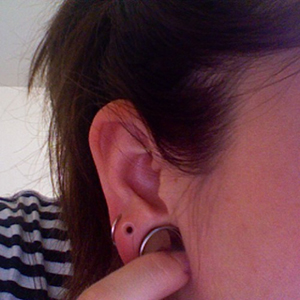 "Silicone earskin (Clear) 8g  (5/16"" wearable)"