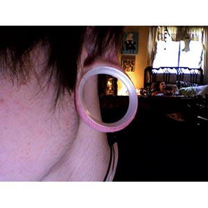 "Silicone earskin (White pearl)  1-5/8""  (3/8 wearable)"