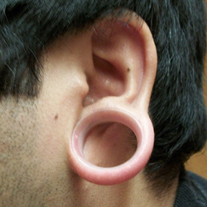 "Silicone earskin (Clear) 1""  (5/16"" wearable)"