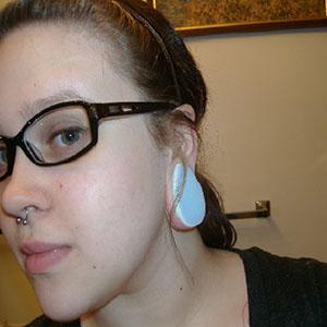"""Opalite teardrop plug 1-1/2""""   -- Photo # 21164"""