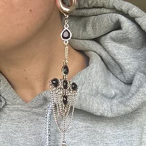 """3/4""""  Silver (pair) -- Photo # 73068"""