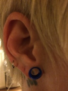 "0g  Blue (1/4"" wearable) -- Photo # 75281"