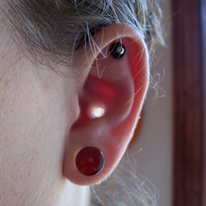 "Silicone earskin (Clear) 4g  (5/16"" wearable)"