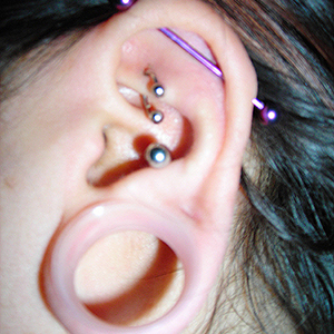 "Silicone earskin (Clear) 7/8""  (3/8"" wearable)"