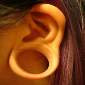 "Silicone earskin (Clear) 1""  (3/8"" wearable)"