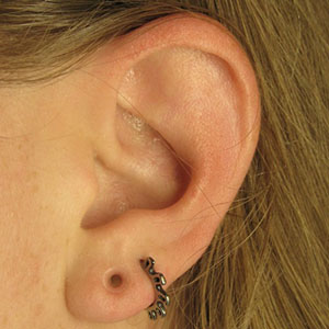 "Silicone earskin (Clear) 8g  (1/4"" wearable)"