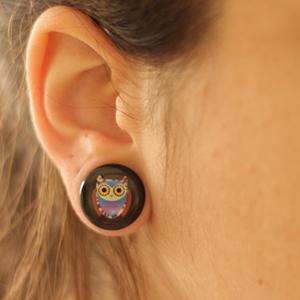 "Single flare owl plug 5/8"""