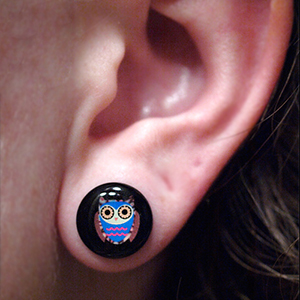 Single flare owl plug 00g/10mm