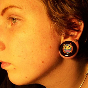"Single flare owl plug 1""  25mm"