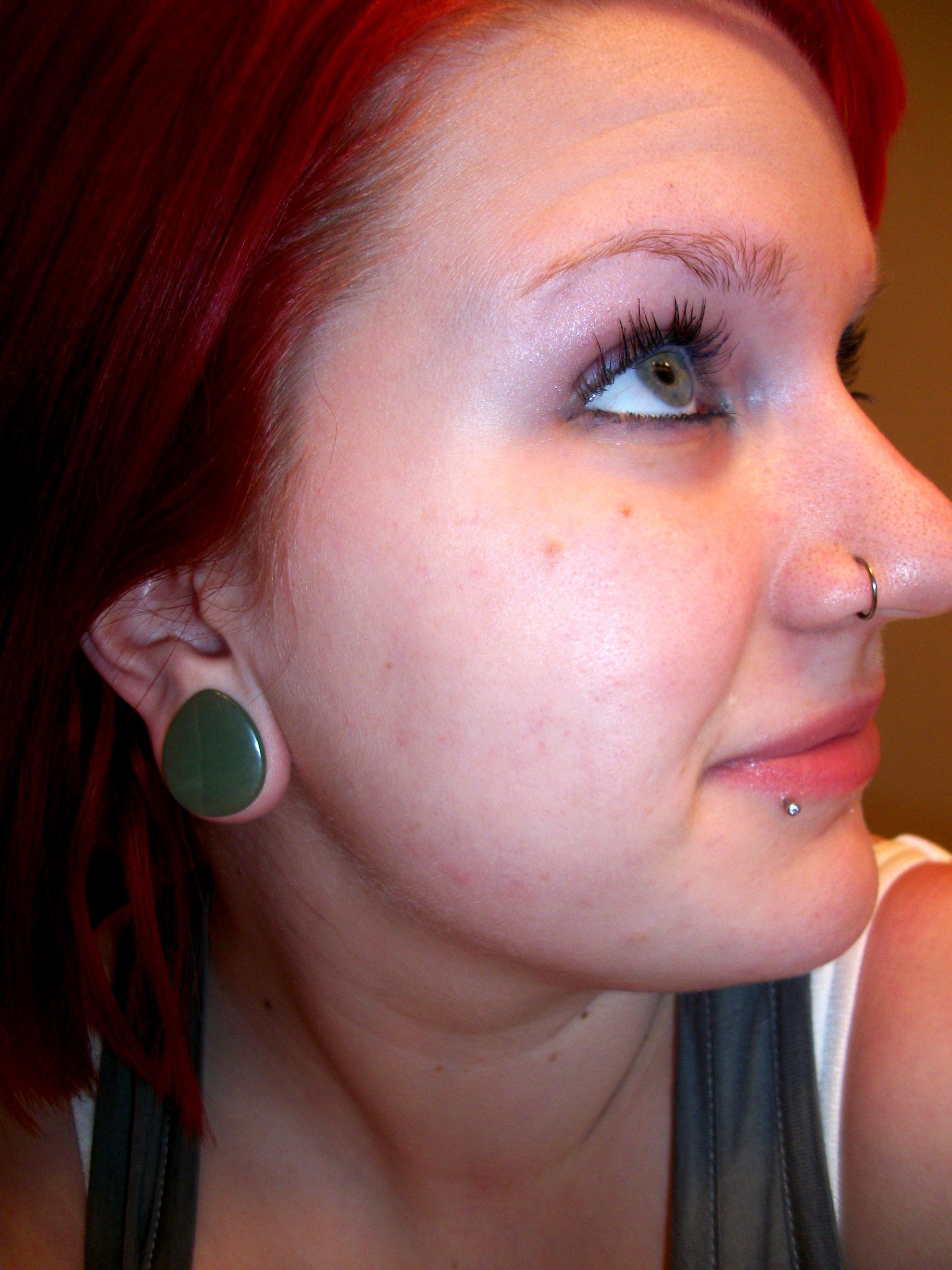 3 4 Plugs >> Green Aventurine Stone Teardrop Plug