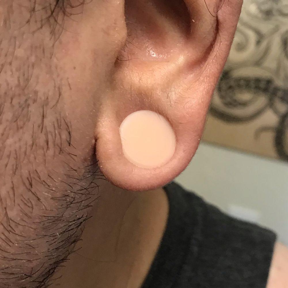 20MM-38MM Hider Plug Silicone Skin Colour Skin Flesh Tunnel Ear Skin Color Plugs
