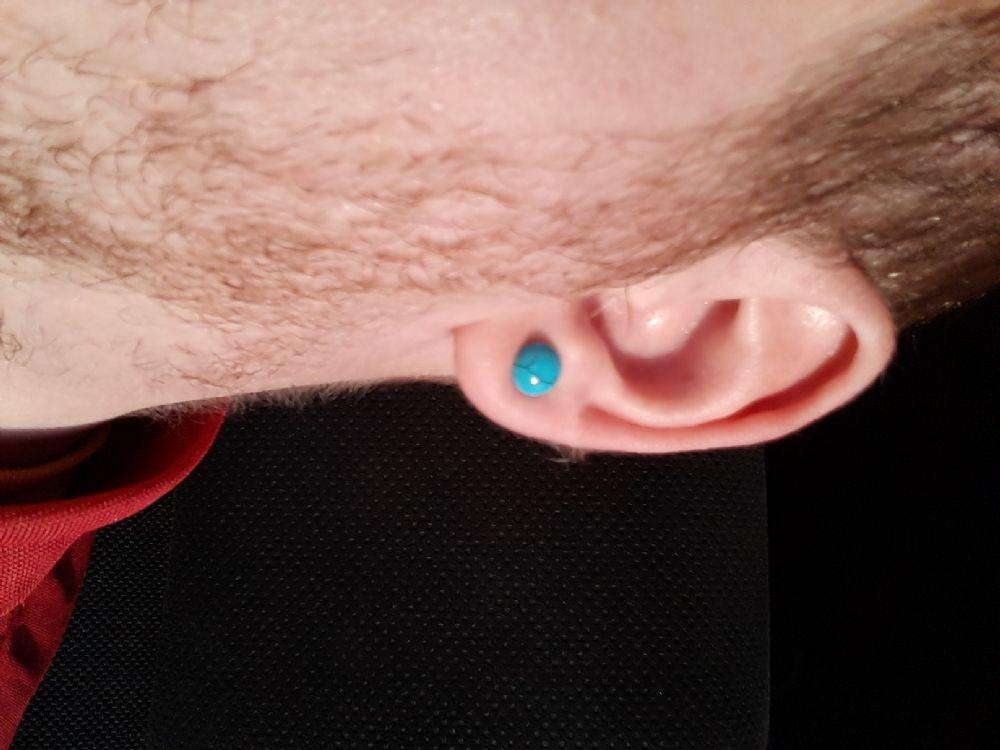 4g Single Flare Synthetic Turquoise Plug