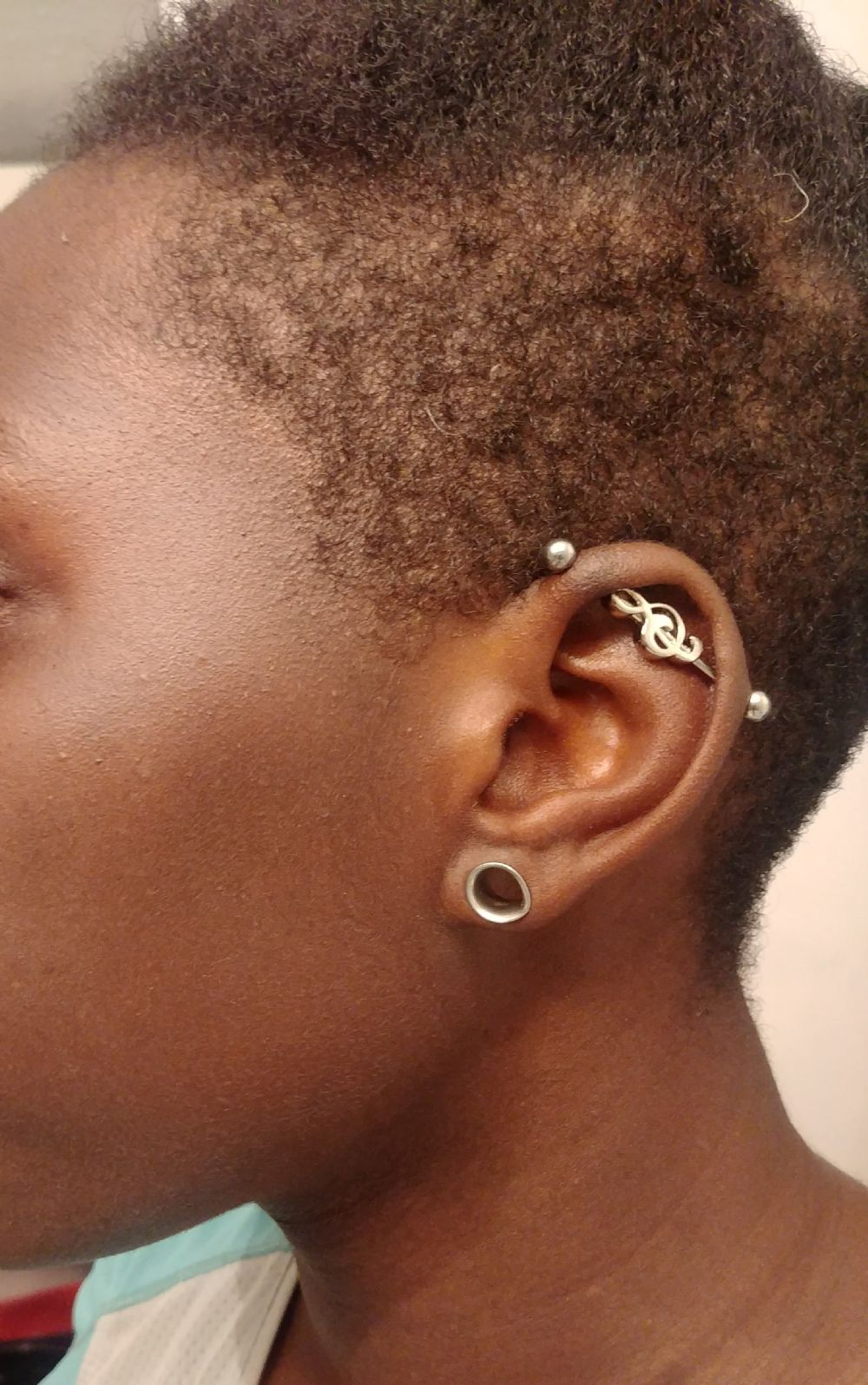 14g Treble Clef Industrial Barbell Set
