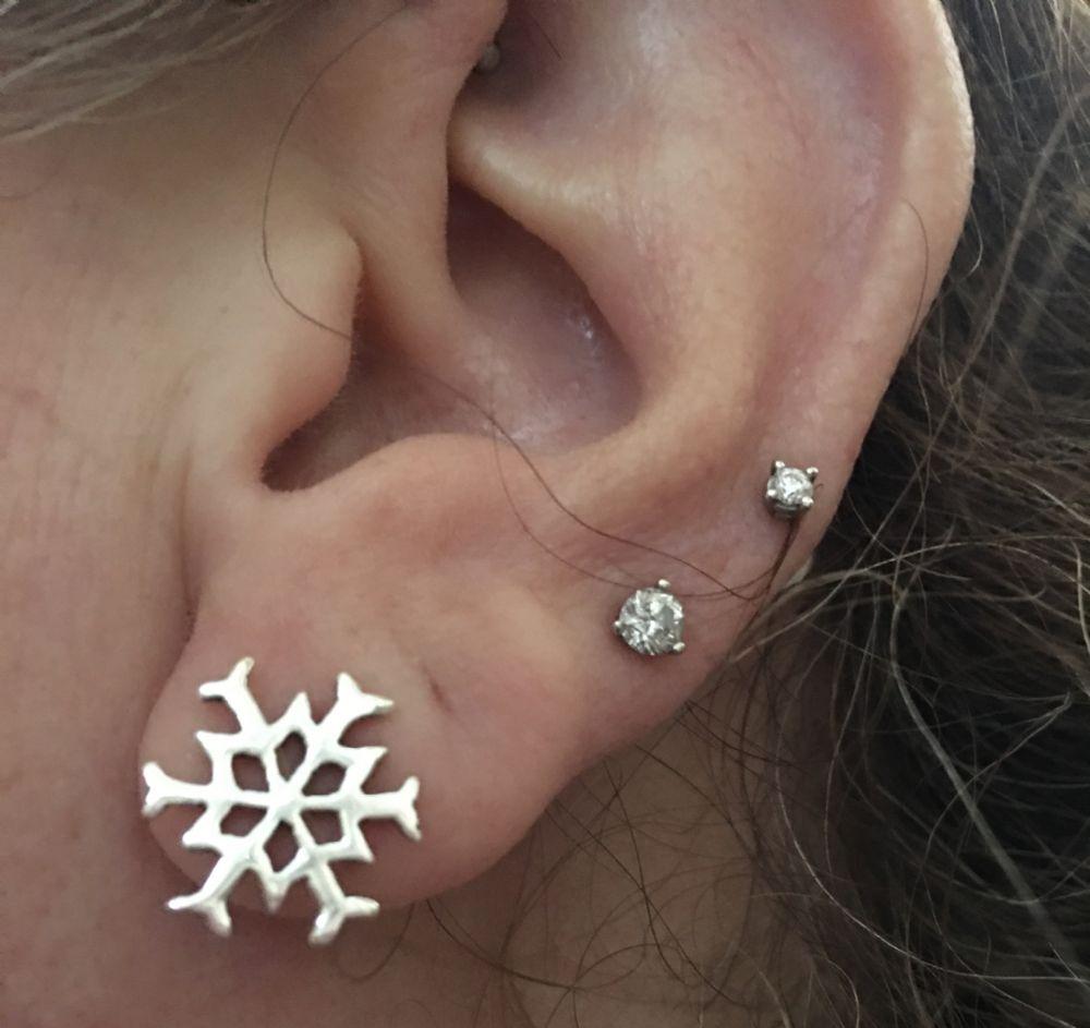 20g Silver Snowflake Earrings